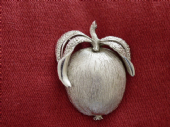 Adam's Delight by Sarah Coventry a 1960s Apple Brooch in Silver tone